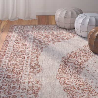 Myers Light Beige/Terracotta Indoor/Outdoor Area Rug Rug Size: Rectangle 27 x 5