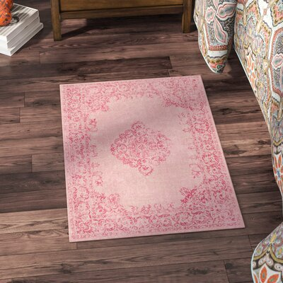 Payne Hand-Woven Bright Pink/Blush Area Rug Rug Size: Rectangle 2 x 3