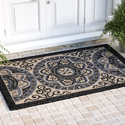 Ashby Ivory/Charcoal Indoor/Outdoor Area Rug Rug Size: Rectangle 311 x 511