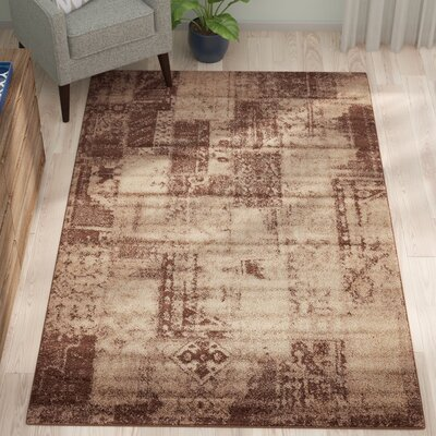 Weese Brown Area Rug Rug Size: Rectangle 5 x 8