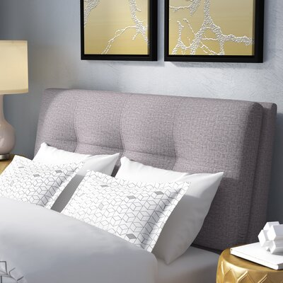 Deemer Upholstered Panel Headboard Upholstery: Gray, Size: Queen