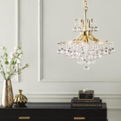 McAllen 6-Light Crystal Chandelier Finish: Gold, Crystal Trim: Elegant Cut