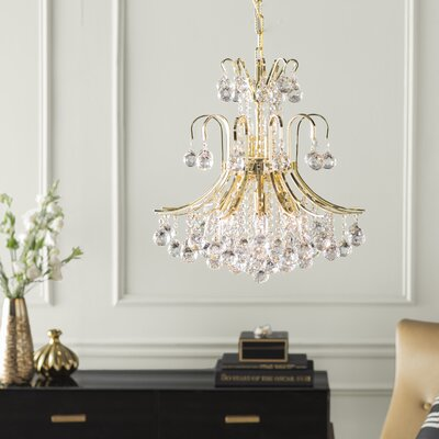 McAllen 10-Light Crystal Chandelier Finish: Gold, Crystal Trim: Elegant Cut
