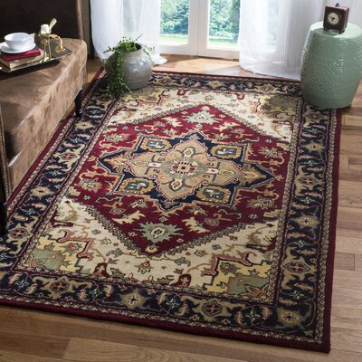 Balthrop Red Oriental Area Rug Rug Size: Rectangle 5' x 8'