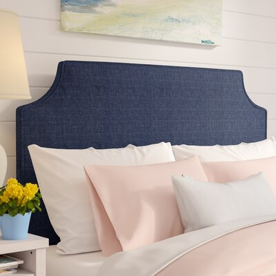 Briarcliffe Upholstered Panel Headboard Size: Queen, Upholstery: Navy Blue