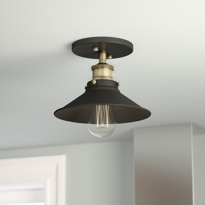 Montreal 1-Light Semi-Flush Mount Finish: Antique Brass