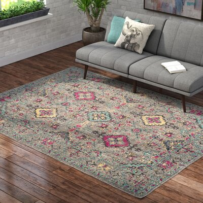 Bunn Gray/Blue Area Rug Rug Size: Rectangle 67 x 9