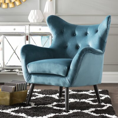 Bouck Wingback Chair Upholstery Color: Dark Teal