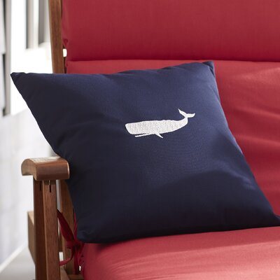 Sarasota Springs Indoor/Outdoor Sunbrella Throw Pillow Size: 18 H x 18 W, Color: Navy