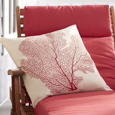 Pebble Creek Indoor Outdoor Throw Pillow Color: Beach Red
