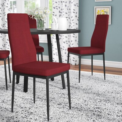 Cerise Upholstered Dining Chair Color: Red