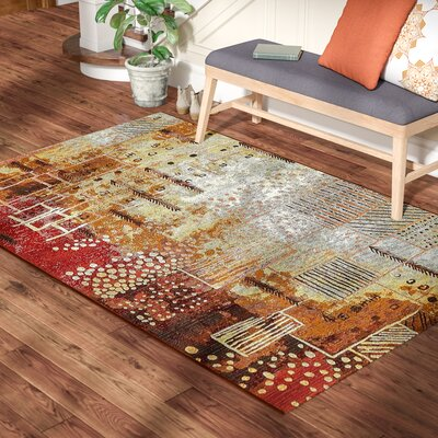 Jamie Orange Indoor/Outdoor Area Rug Rug Size: Rectangle 4 x 6