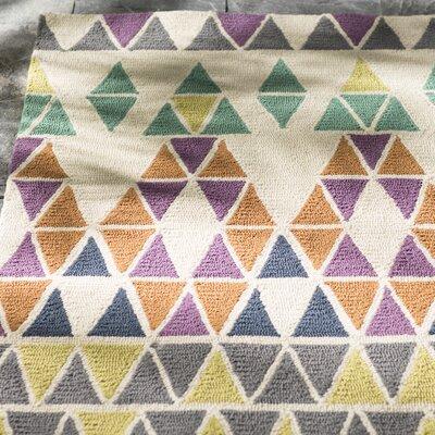 Throncliffe Ivory/Purple Indoor/Outdoor Area Rug Rug Size: 5' x 7'6