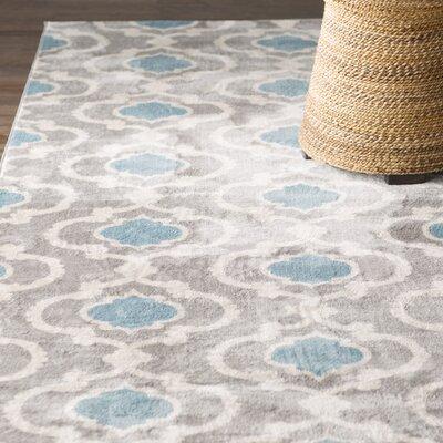 Melrose Gray/Blue Area Rug Rug Size: 710 x 102