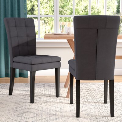 Cribb Fabric Upholstered Side Chair Upholstery: Dark Charcoal