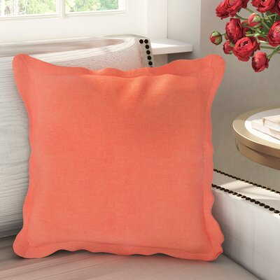 Anastagio Polyester Cotton Throw Pillow Size: 18 H x 18 W x 4 D, Color: Coral
