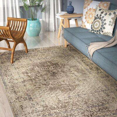 Ismael Cream/Taupe Area Rug Rug Size: Rectangle 5 x 8