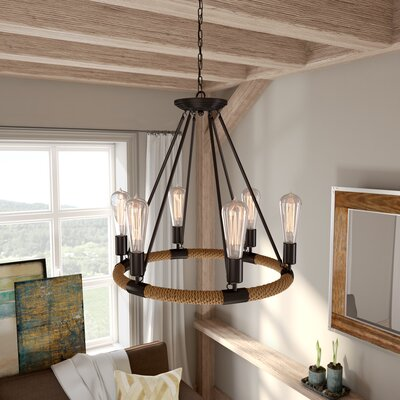 Inyo 6-Light Candle-Style Chandelier