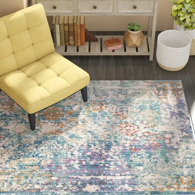 Mellie Green/Beige/Purple Area Rug Rug Size: Runner 3 x 12