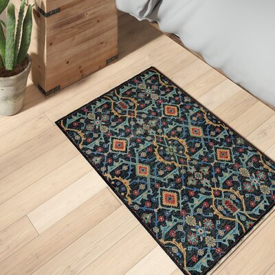 Appistoki Hand-Tufted Blue Area Rug Rug Size: Rectangle 2 x 3