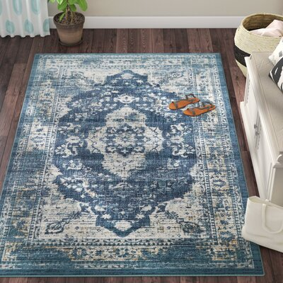 Jae Navy Blue Tibetan Area Rug Rug Size: Rectangle 10 x 13