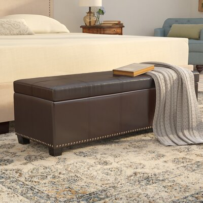 Fulton Storage Ottoman Upholstery Color: Coffee Brown