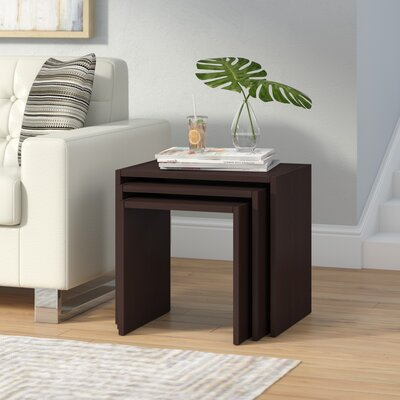 Cody 3 Piece Nesting Tables Color: Wenge
