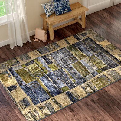 Jamie Blue Indoor/Outdoor Area Rug Rug Size: Rectangle 53 x 8