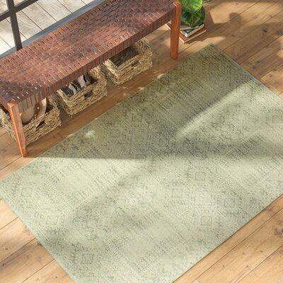 Felicienne Silver Geometric Area Rug Rug Size: 37 x 57