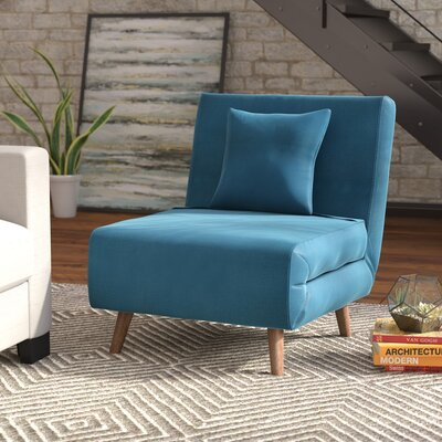 Wolfe Convertible Chair Upholstery: Teal