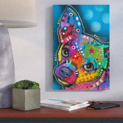 Pop Chihuahua Graphic Art on Wrapped Canvas Size: 12