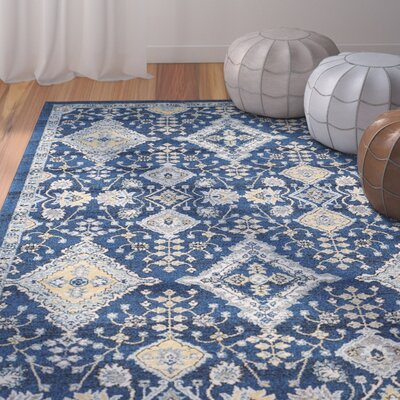 Ameesha Blue Area Rug Rug Size: Rectangle 3 x 5