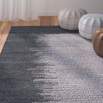 Logan Geometric Hand-Woven Light Gray Area Rug Rug Size: Rectangle 8 x 10