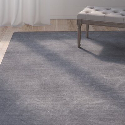 Corbyn Hand-Woven Gray Area Rug Rug Size: Rectangle 9 6 x 13 6