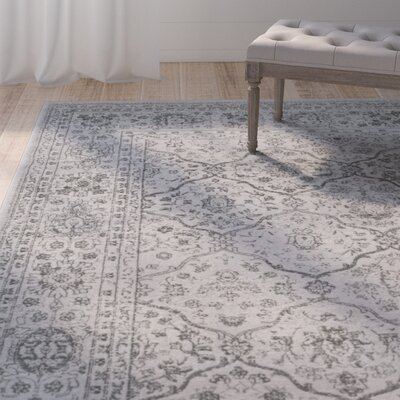 Akron Creek Light Gray/Gray Area Rug Rug Size: Rectangle 10 x 14