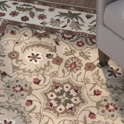 Burruss Hand-Tufted Tan Area Rug Rug Size: Square 5