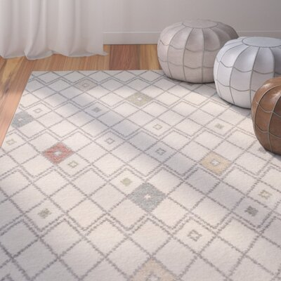 Buckleton Ivory/Red Area Rug Rug Size: Runner 26 x 8
