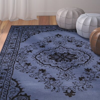 Samaniego Hand-Tufted Purple Area Rug Rug Size: Round 6