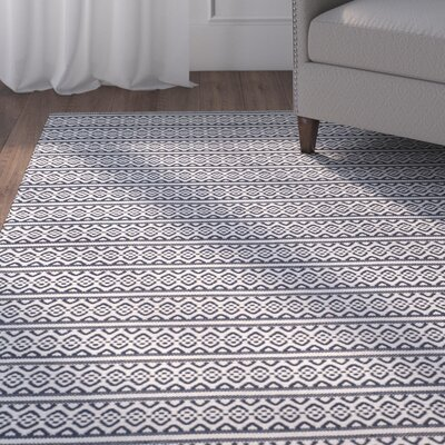 Parthena Hand-Woven Gray Area Rug Rug Size: Rectangle 5 x 8