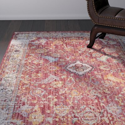Amiens Rose Area Rug Rug Size: Rectangle 51 x 76