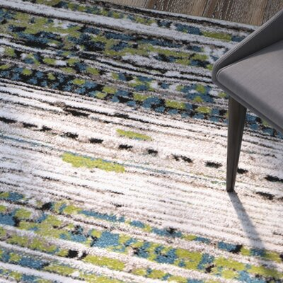 Sevastopol Cream/Green Area Rug Rug Size: Rectangle 4 x 6