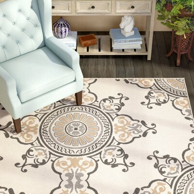 Stefani Birch/Gray Indoor/Outdoor Area Rug Rug Size: Rectangle 53 x 76