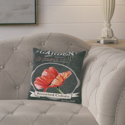 Elisabeth Chalkboard Assorted Colors Throw Pillow Size: 18 H x 18 W x 2 D