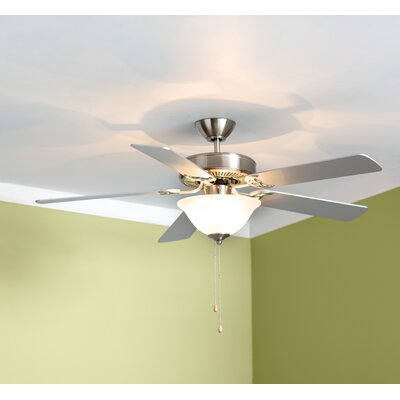 52 Hamlett 3-Light 5-Blade Ceiling Fan Finish: Brushed Nickel