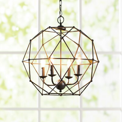 Cavanagh 4-Light Globe Pendant Finish: Rubbed Oil Bronze