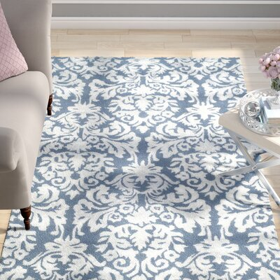 Mcguire Hand-Tufted Navy/Gray Area Rug Rug Size: Rectangle 5 x 8