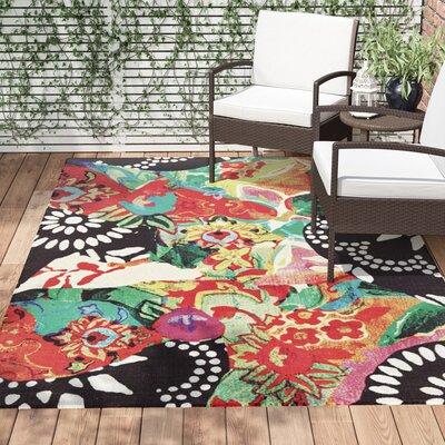 Florus Hand Woven Indoor/Outdoor Area Rug Rug Size: Rectangle 56 x 86