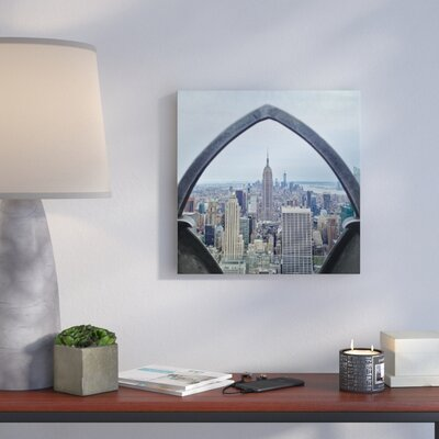 'Rooftop View of NYC' Framed Photographic Print on Wrapped Canvas