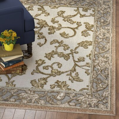 Audubon Beige/Gray/Light Brown Indoor/Outdoor Area Rug Rug Size: Rectangle 6 x 9
