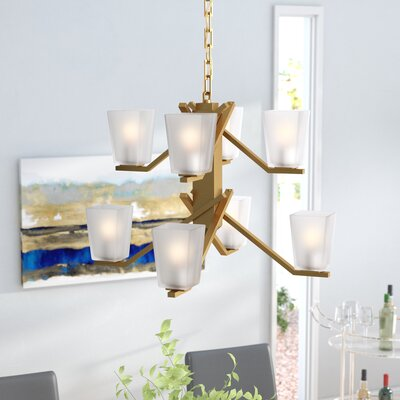 Balogh 8-Light Shaded Chandelier Finish: Vintage Brass